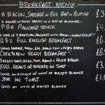Breakfast Menu at Pedalabikeaway